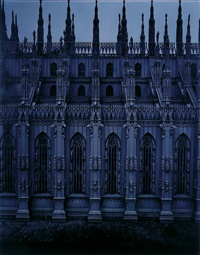 duomo, vista lateral (from moonlight series) by valentin vallhonrat