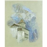 château des rubins, sallanches, haute savoie by john ruskin