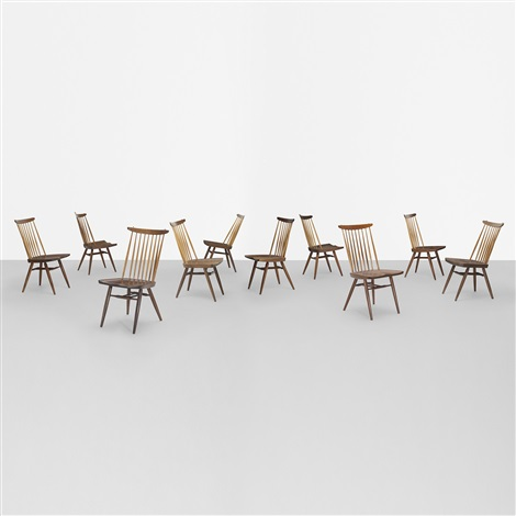 new chairs set of 10 by george nakashima