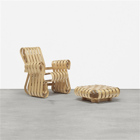 Power Play Chair And Ottoman By Frank Gehry