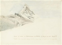 the matterhorn, switzerland (+another; 2 works) by john ruskin