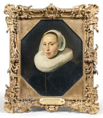 portrait de jeune femme by thomas de keyser