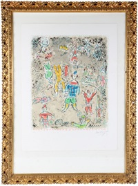 the blue clown by marc chagall