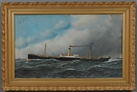 portrait of the screw steamer oregonian by antonio jacobsen