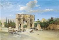 der konstantinsbogen in rom by martin weblus