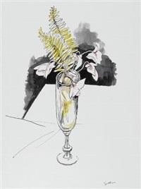 fiori nel bicchiere by renato guttuso