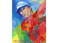 portrait of paul azinger by leroy neiman