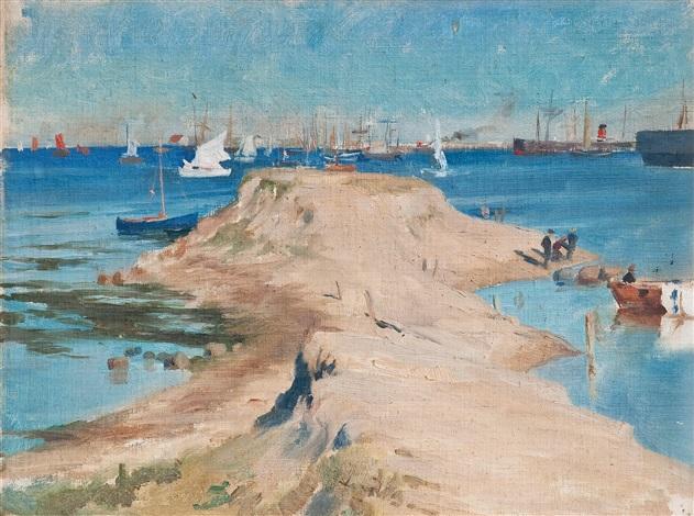 sailing boats by albert edelfelt