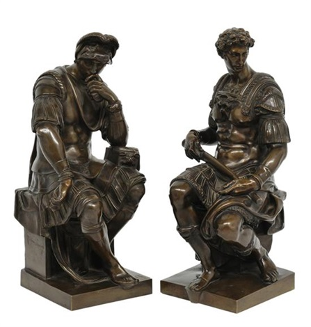 giuliano and lorenzo de medici pair by michelangelo