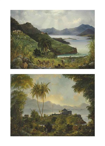 cruz bay cinnamon bay danish west indies us virgin islands 2 works by fritz siegfried george melbye