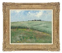sunny field by louis gustave cambier