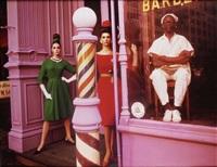 antonia+simone, barbershop, new york by william klein