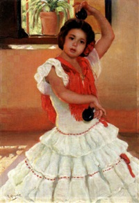 young girl dancing by rafael argeles y escriche