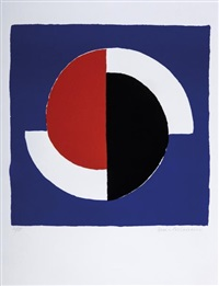 composition fond bleu by sonia delaunay-terk
