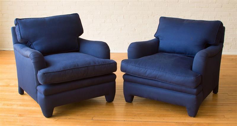 custom club chairs. Dakota Jackson Pair Of Custom Club Chairs By E