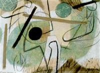 abstrakte komposition by otto fischer-trachau
