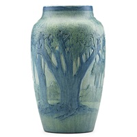 scenic vase with spanish moss by anna frances connor simpson