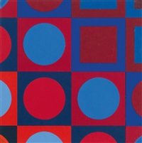alom rouge by victor vasarely