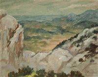 sketch for 'overlooking the gorge ollioules by rupert bunny