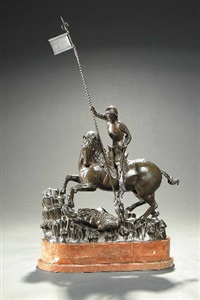 saint george slaying the dragon by franta (frantisek) anyz