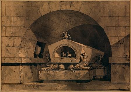 tombeau from quatre tombeaux by louis jean desprez
