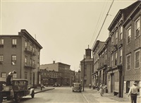 powers and olive streets, brooklyn, ny, june 1 by berenice abbott