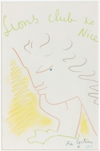 profil, lions club de nice by jean cocteau