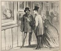 le peintre qui a eu en tableau refusé, pl.8 (from exposition 1859) by honoré daumier
