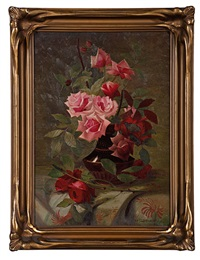 floral still life by george f. leibhardt
