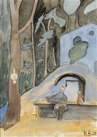 vor dem grotto cavicc im wald unterhalb von montagnola by hermann hesse