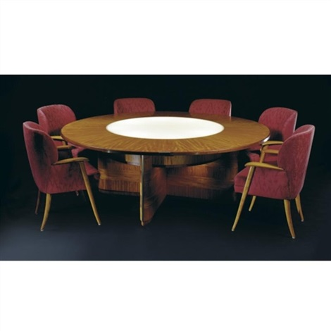 Dining Room Chairs Kansas City illuminated dining table and set of twelve chairs from the w.e.