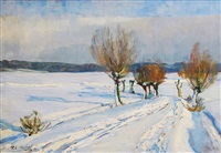 wintertag in ostpreußen by paul emil gabel