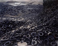 oxford tire pile #1, westly, california by edward burtynsky