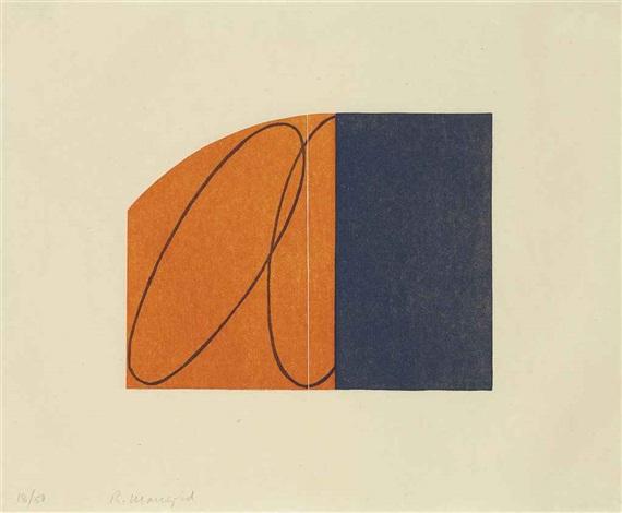 orangeblack zone by robert mangold