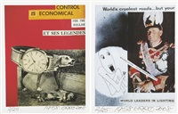 les collages d'erro 1958-1964 (set of 9 works) by erró