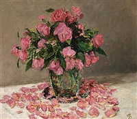 a flower still life (+ 2 others; 3 works) by carel nicolaas storm van 's-gravensande