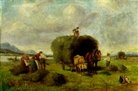 harvesting the hay by ludwig cornelius-muller