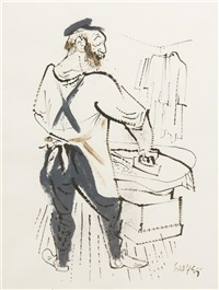 man ironing by william gropper