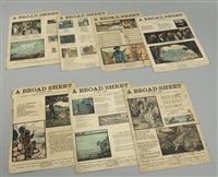 collection of broad sheets (7 works) by jack butler yeats and pamela coleman smith