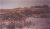 by the sea wall, walberswick by margaret glass