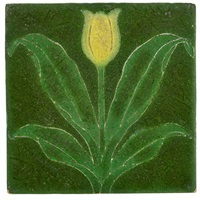 tile with tulip by grueby