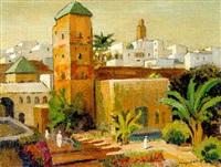 dans les jardins d'une medina au maroc by marguerite allar