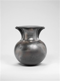 """flat topped vessel with wings"" by magdalene odundo"
