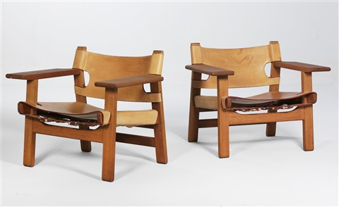 Spanish Chairs (pair) By Børge Mogensen