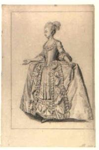 an elegant woman holding a fan by nicholaes muys