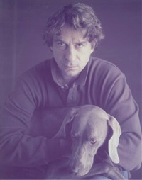 portrait of william wegman by timothy greenfield-sanders