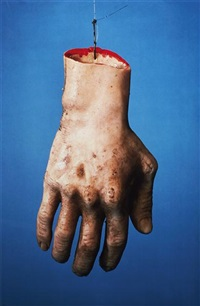 untitled (from propo series)(rubber hand front) by paul mccarthy