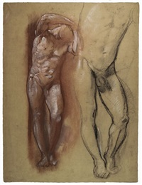 studi accademici per nudi virili (recto-verso) by armando spadini