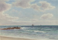 off the mary coast (+ clawsey beach, port st. mary, isle of man; pair) by james aitken