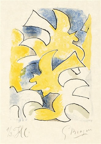 migration. - oiseau fulgurant, pl. 3 & 10 (2 works from lettera amorosa) by georges braque